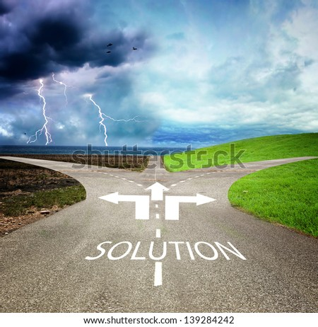 Concept of choose the correct or incorrect way - stock photo
