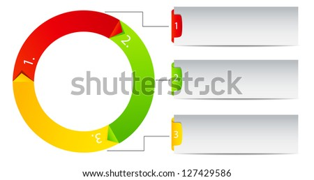 Concept of colorful Time Wheel  Raster version   illustration - stock photo
