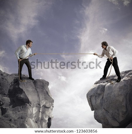 Concept of competition in business affairs - stock photo