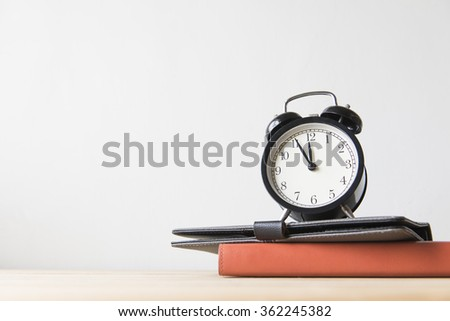 Concept of education or back to school on white background - stock photo