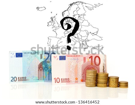 concept of euro zone survive with money - stock photo