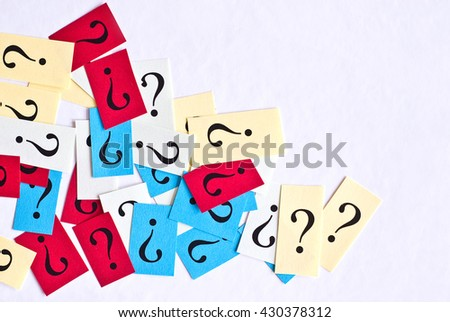 concept of FAQ - question mark icon - frequently asked questions - stock photo