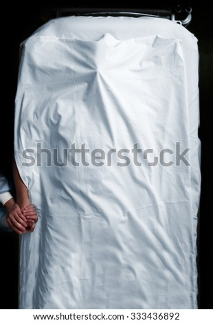 Concept of farewell in hospital - stock photo