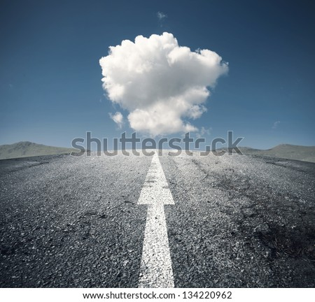 Concept of follow the right way - stock photo