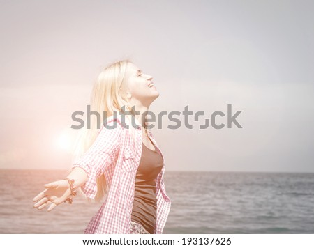 concept of freedom - stock photo