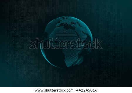 Concept of global business - Technological background - stock photo