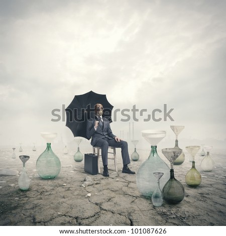 concept of global warming: Environmental Damage - stock photo