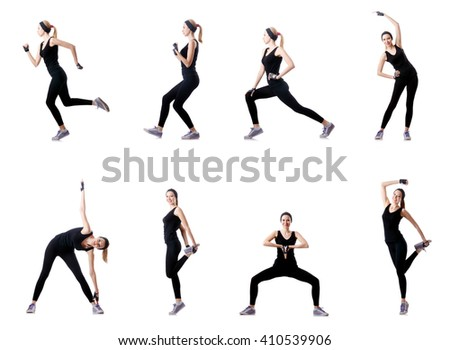 Concept of healthy lifestyle in set - stock photo