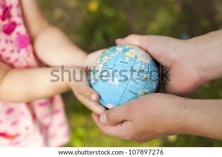 Concept of heritage earth for future generations - stock photo