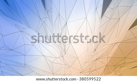 Concept of highly detailed art line background. Art background, horizontal, abstract. 3d render