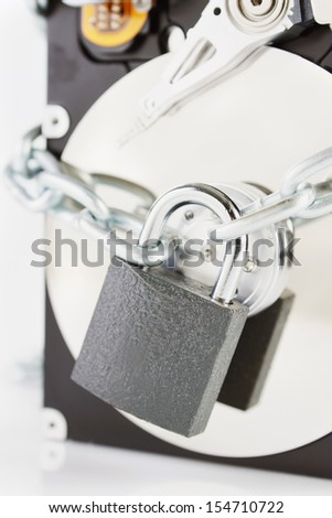 Concept of information security - stock photo
