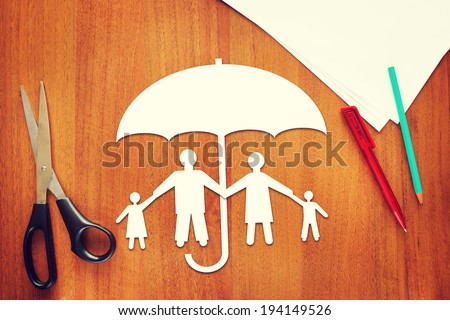 Concept of life insurance - stock photo