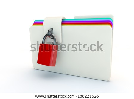 concept of locked folder of work - stock photo