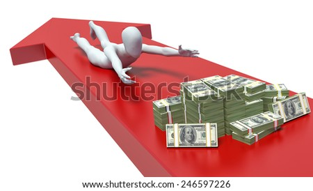 concept of loss of money, 3d man