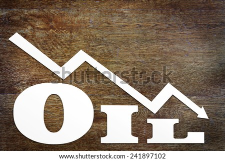 Concept of lower oil prices - stock photo