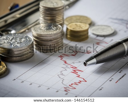 Concept of making money on investment - stock photo