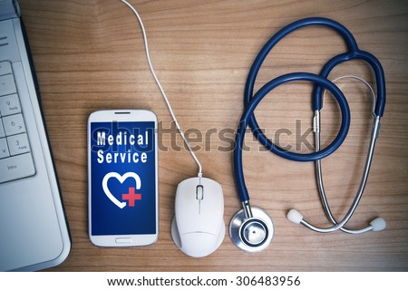 concept of medical technology - stock photo