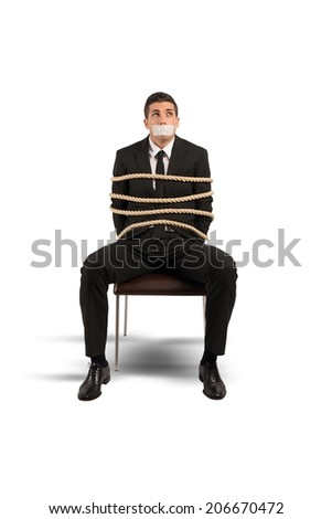 Concept of mobbing and stress at work - stock photo
