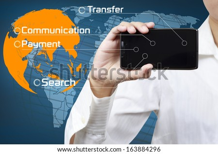 Concept of mobile communication business. - stock photo