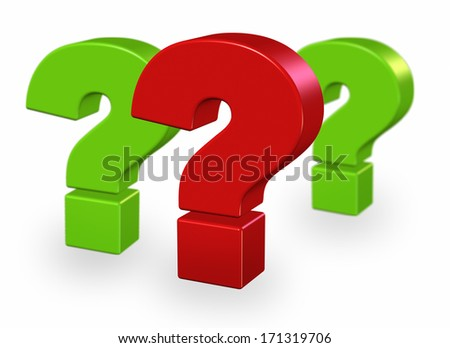 Concept of most important question - stock photo