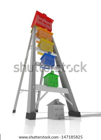 concept of moving up the property ladder