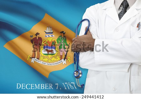 Concept of national healthcare system - Delaware - stock photo