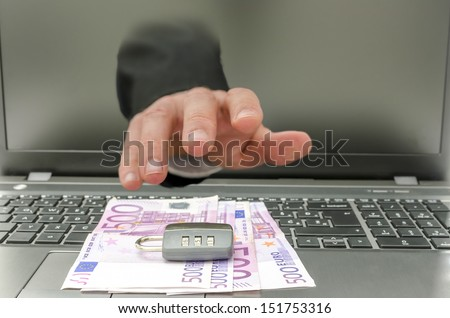 Concept of online crime and protection. - stock photo