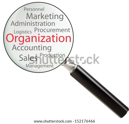 Concept of organization consists of sales, logistics, personnel, marketing, production, accounting, procurement, management and administration