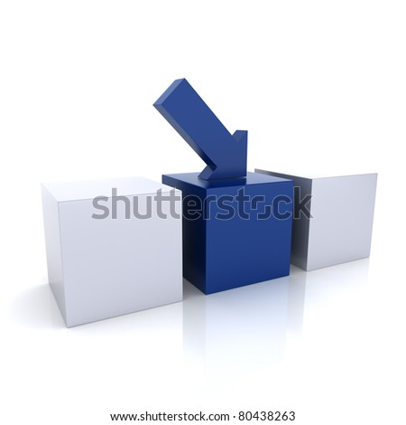 Concept of perfect balance with two triangles(blue collection) - stock photo