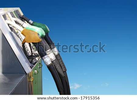 concept of petrol and clean environment - stock photo