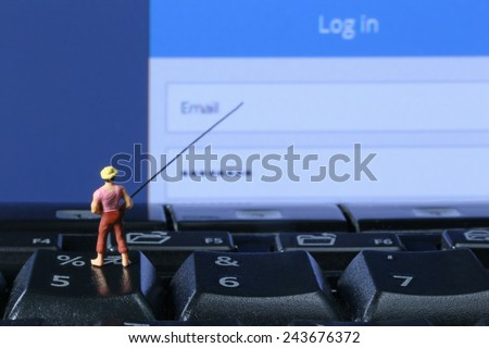 Concept of Phishing - stock photo