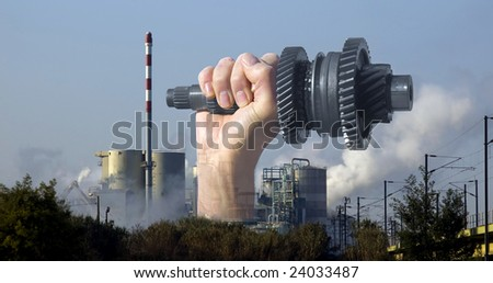 Concept of power in global industry. - stock photo