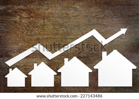 Concept of real estate sales growth - stock photo