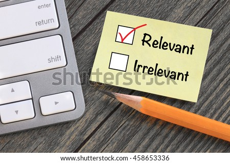 concept of relevant versus irrelevant