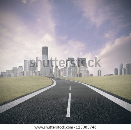 Concept of road to success