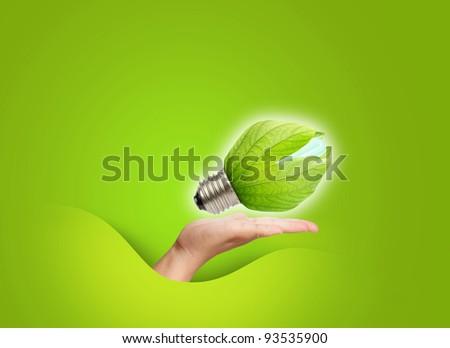 concept of saving energy - stock photo