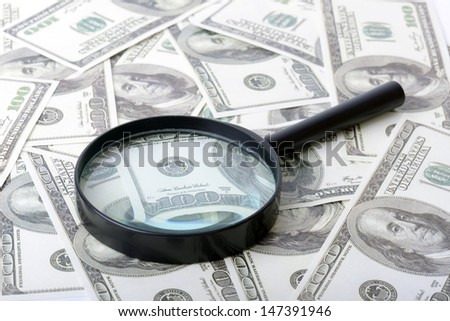 Concept of searching for money - stock photo