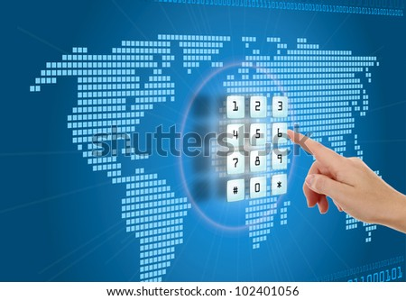Concept of security and protection in Internet - stock photo