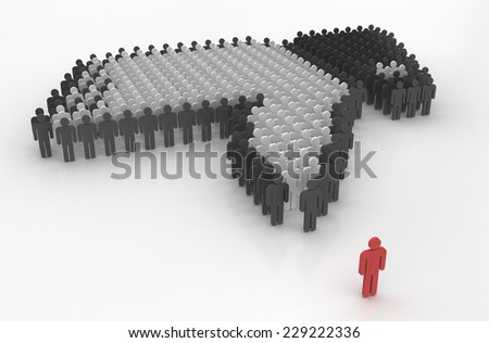 concept of social problems - stock photo