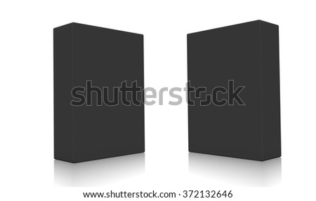 Concept of some black boxes isolated on a white background.