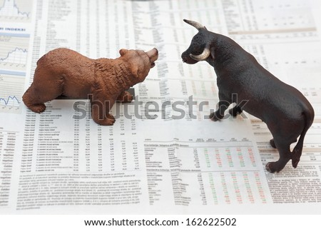 concept of stock market - stock photo