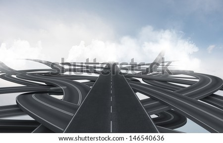 Concept of street confusion and assistance of GPS - stock photo
