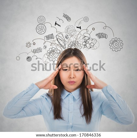 Concept of stress with businesswoman  - stock photo