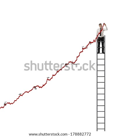 Concept of success and determination of a businessman - stock photo