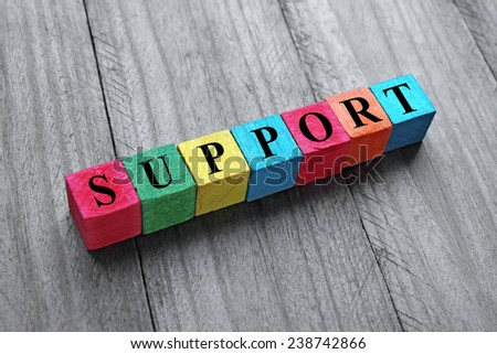 concept of support - stock photo