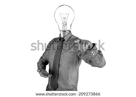 concept of thinking in business - stock photo