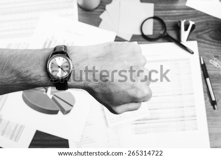 Concept of time and deadline at work - stock photo