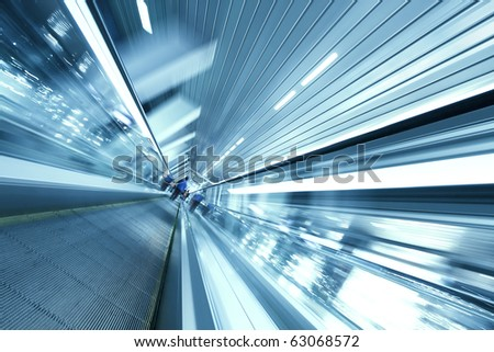 Concept of time fading like as moving escalator - stock photo