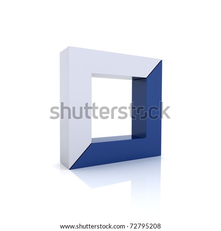 Concept of unity with frames (blue collection) - stock photo