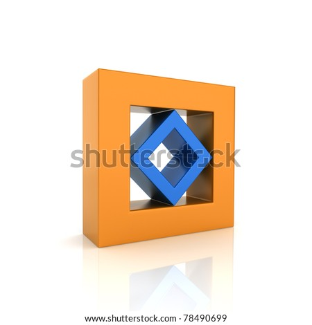 Concept of unity with two frames (color collection) - stock photo